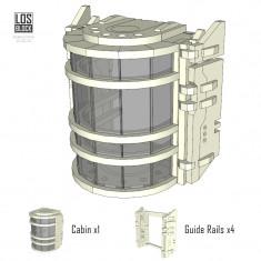 Lift System. 4 level set